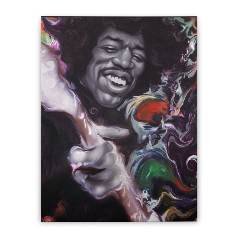 Jimi's not dead Home Stretched Canvas by danielwestman's Artist Shop