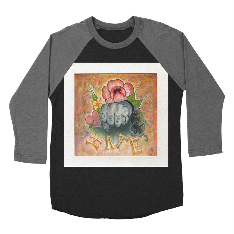 DEFY Women's Baseball Triblend Longsleeve T-Shirt by danikakristine's threadless shop