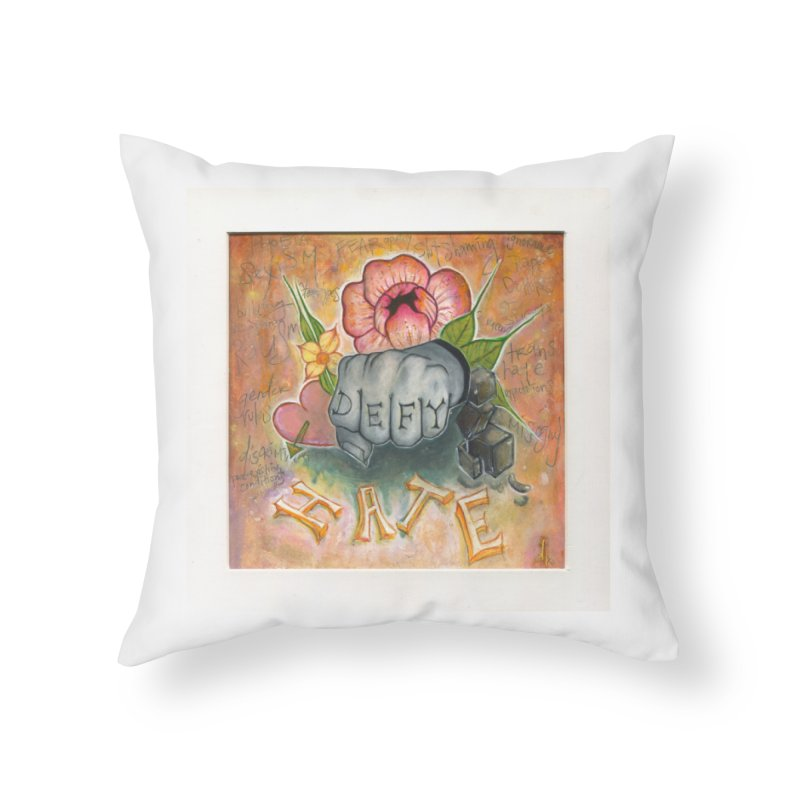 DEFY Home Throw Pillow by danikakristine's threadless shop