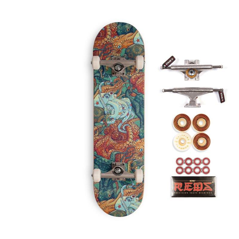 Octopus Party Accessories Skateboard by danilopezstudio's Artist Shop