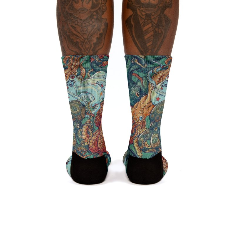 Octopus Party Women's Socks by danilopezstudio's Artist Shop