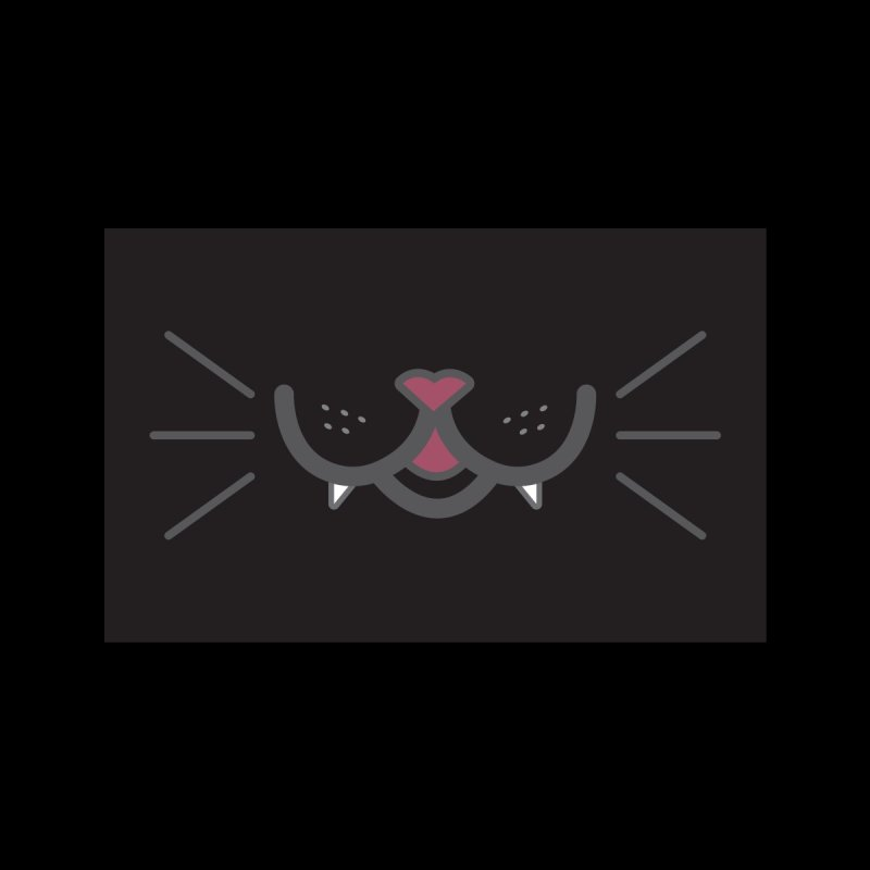 Lucky Cat – Black Cat Accessories Face Mask by danilopezstudio's Artist Shop