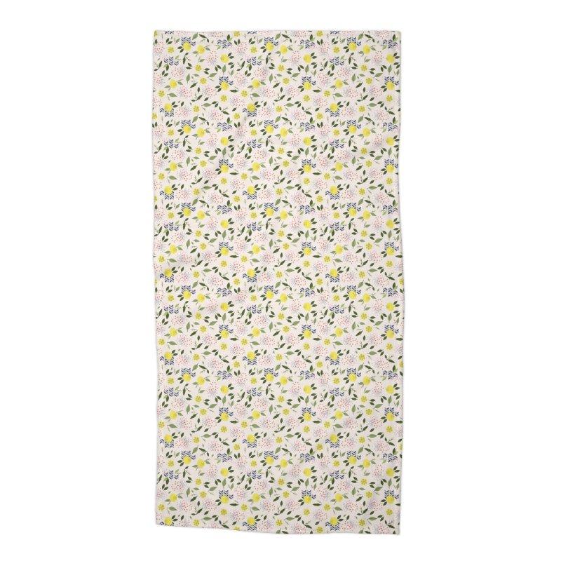 Lemon Love Accessories Beach Towel by Dani Vinokurov's Artist Shop