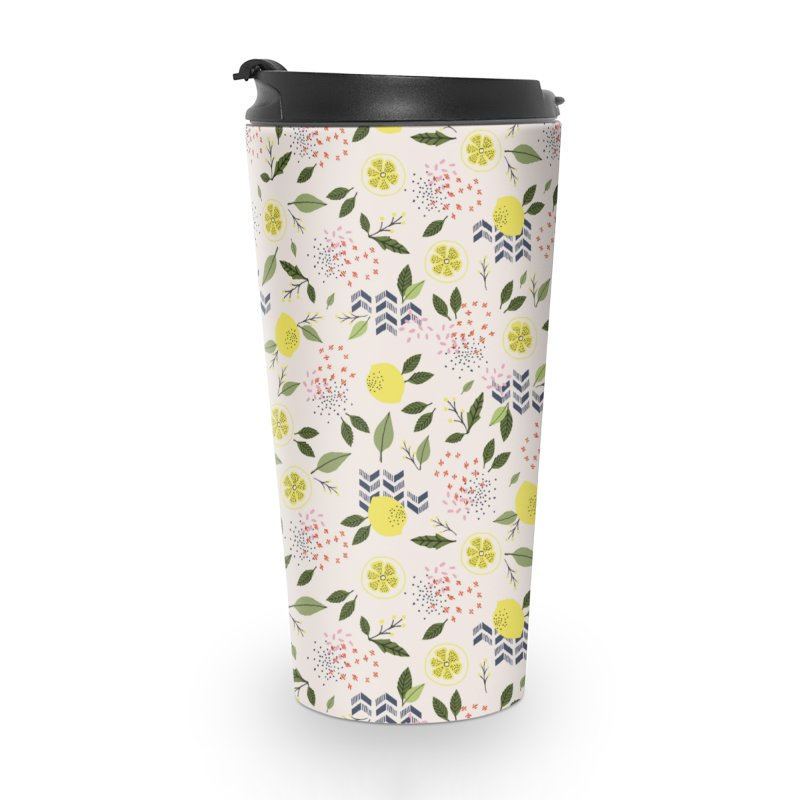 Lemon Love Accessories Travel Mug by Dani Vinokurov's Artist Shop
