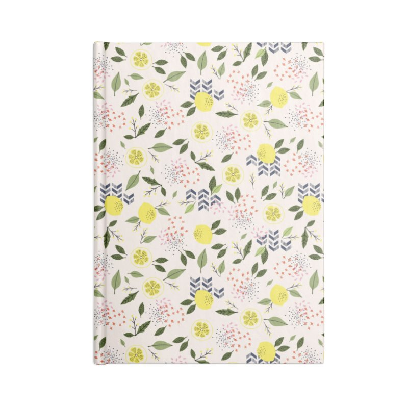 Lemon Love Accessories Lined Journal Notebook by Dani Vinokurov's Artist Shop