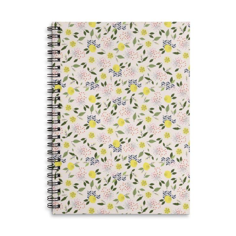 Lemon Love Accessories Lined Spiral Notebook by Dani Vinokurov's Artist Shop