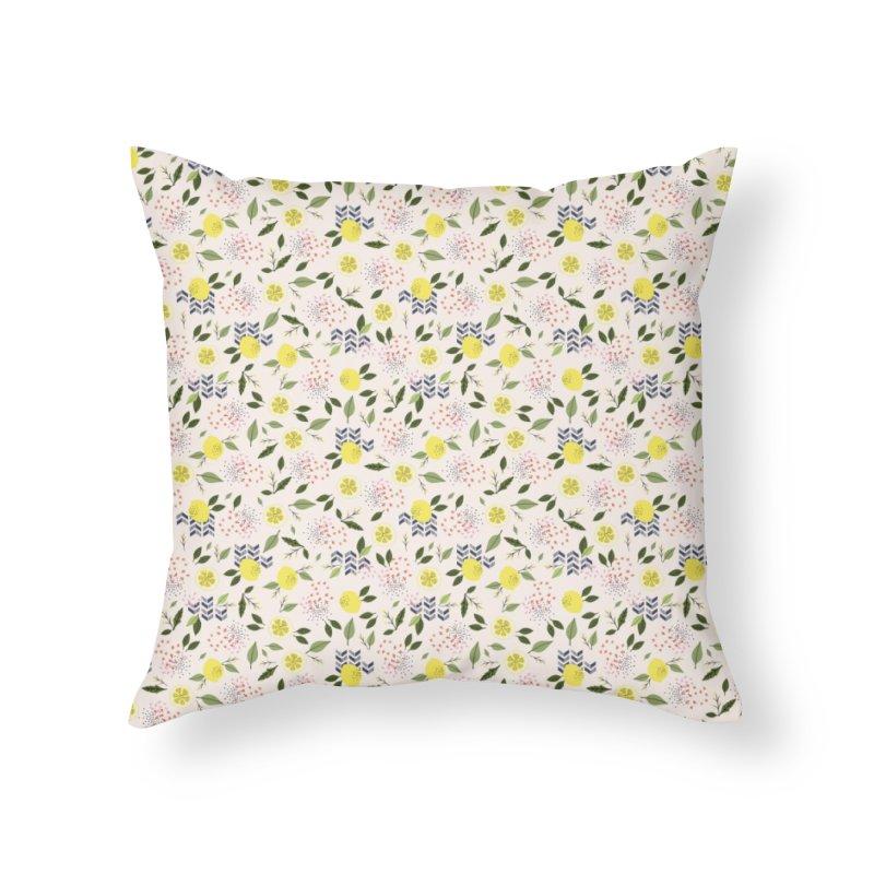 Lemon Love Home Throw Pillow by Dani Vinokurov's Artist Shop