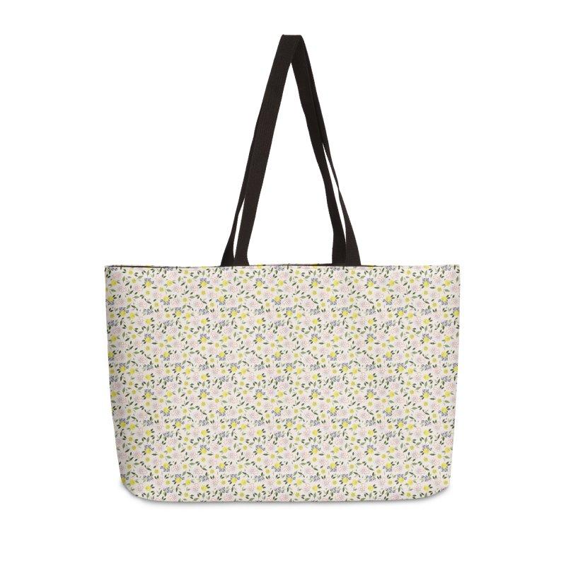 Lemon Love Accessories Weekender Bag Bag by Dani Vinokurov's Artist Shop