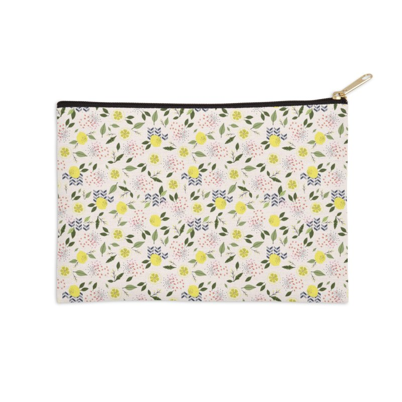 Lemon Love Accessories Zip Pouch by Dani Vinokurov's Artist Shop