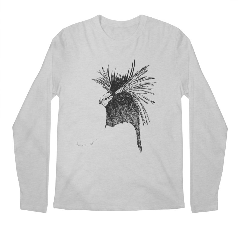 Royal penguin Men's Longsleeve T-Shirt by danmichaeli's Artist Shop