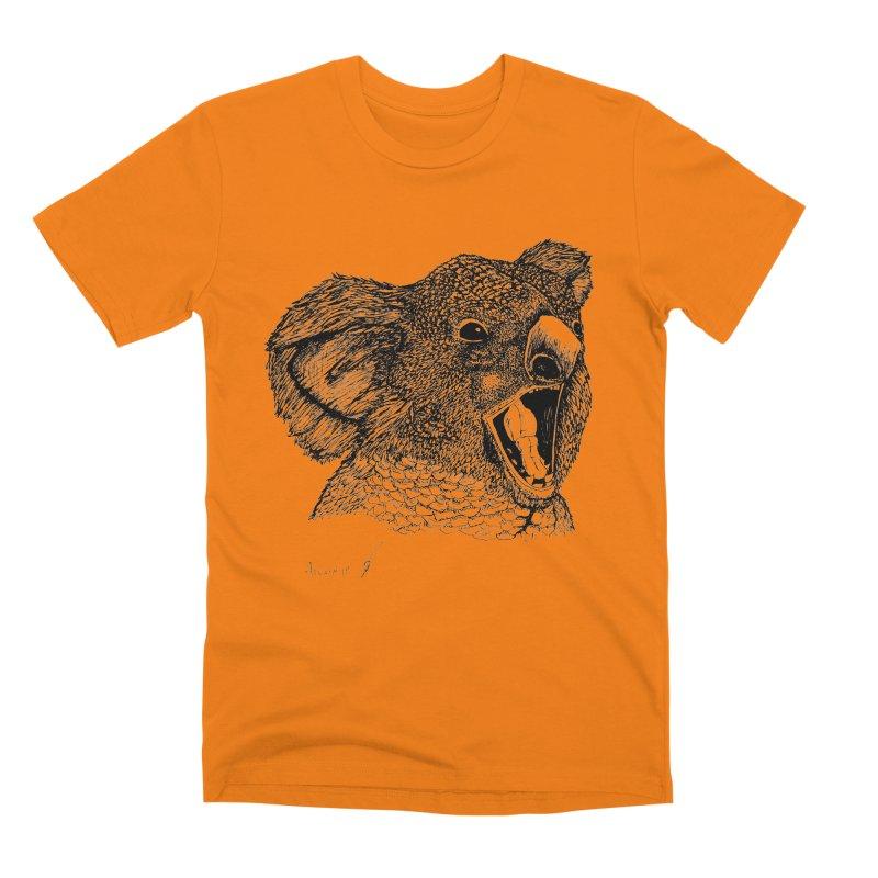 koala Men's T-Shirt by danmichaeli's Artist Shop