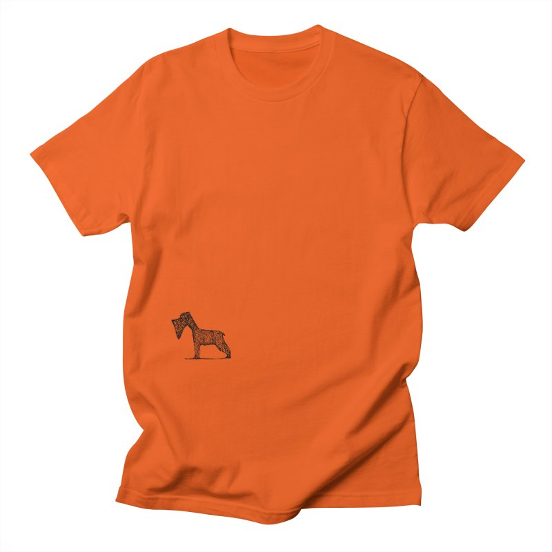 schnauzer dogs Men's T-Shirt by danmichaeli's Artist Shop
