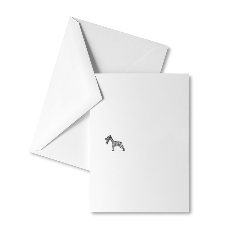 schnauzer dogs Accessories Greeting Card by danmichaeli's Artist Shop