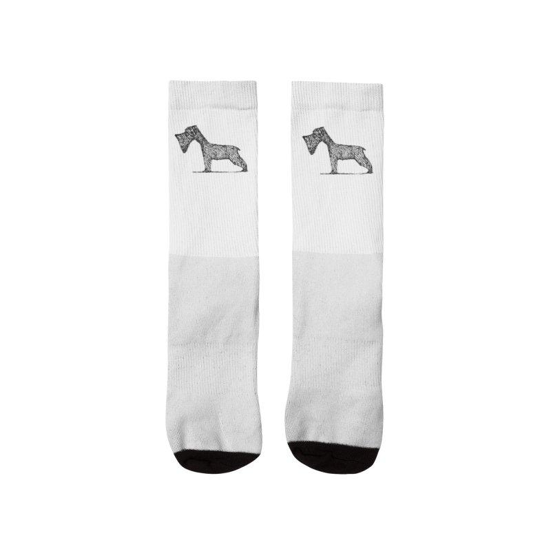 schnauzer dogs Men's Socks by danmichaeli's Artist Shop