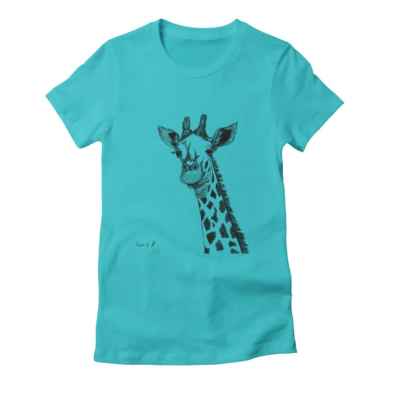 Giraffe Women's T-Shirt by danmichaeli's Artist Shop
