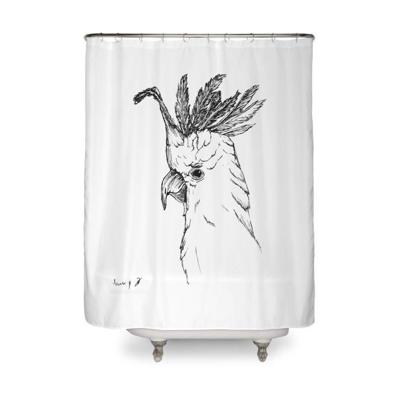 Parrot Home Shower Curtain by danmichaeli's Artist Shop