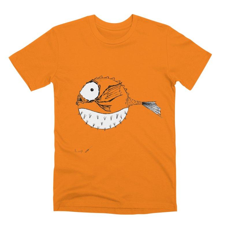spike fish Men's T-Shirt by danmichaeli's Artist Shop