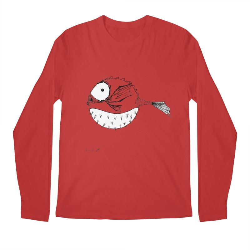 spike fish Men's Longsleeve T-Shirt by danmichaeli's Artist Shop
