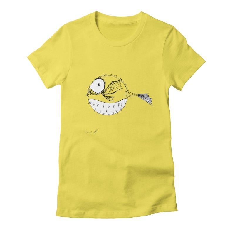 spike fish Women's T-Shirt by danmichaeli's Artist Shop