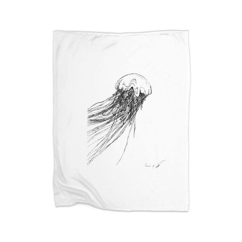 jellyfish Home Blanket by danmichaeli's Artist Shop