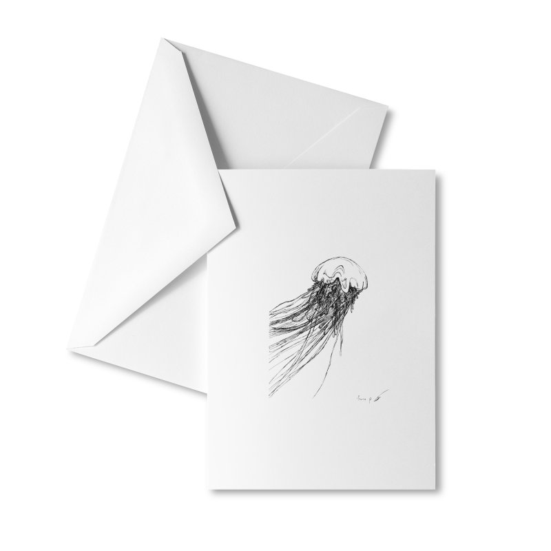 jellyfish Accessories Greeting Card by danmichaeli's Artist Shop