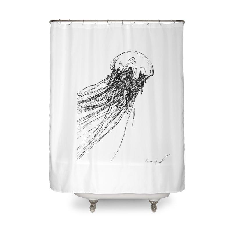 jellyfish Home Shower Curtain by danmichaeli's Artist Shop