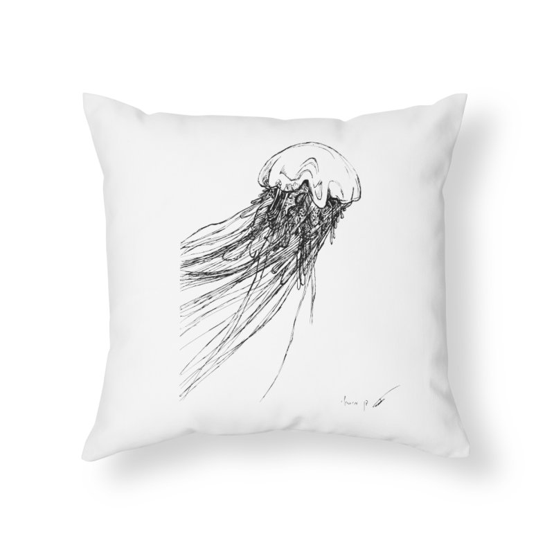 jellyfish Home Throw Pillow by danmichaeli's Artist Shop