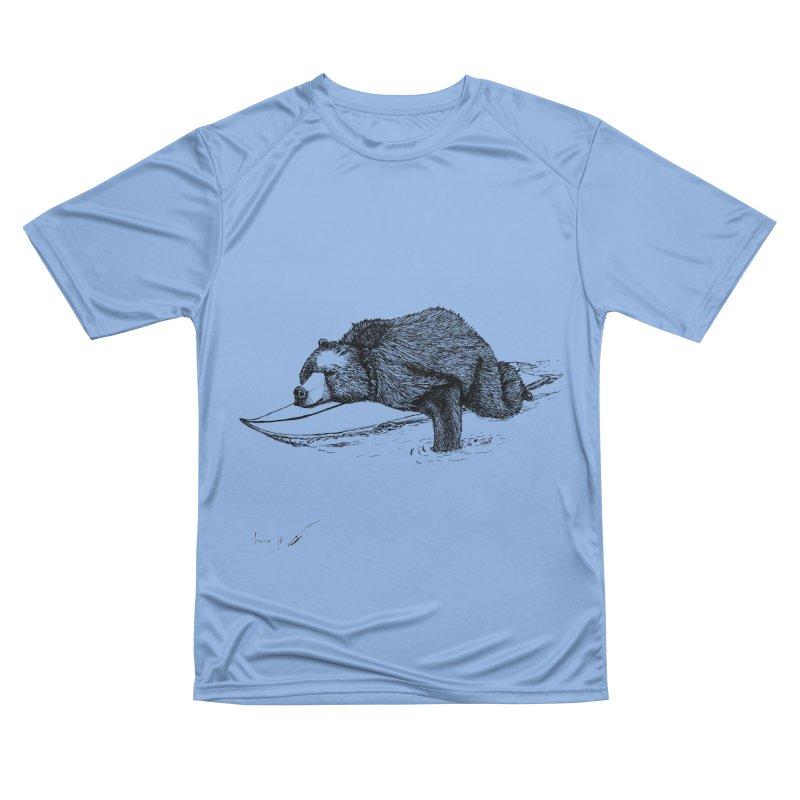 Surfing bear Men's T-Shirt by danmichaeli's Artist Shop
