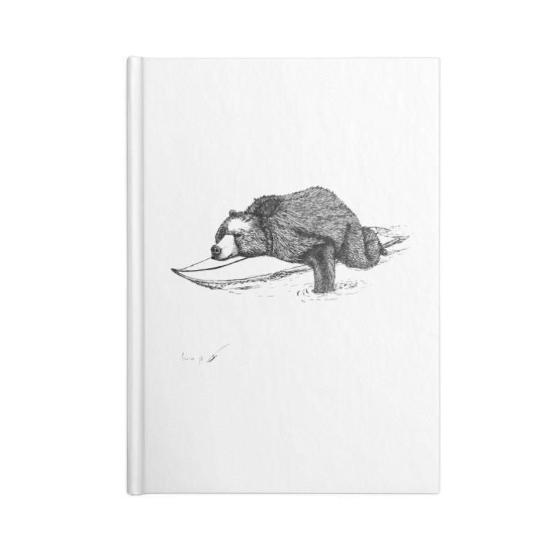 Surfing bear Accessories Notebook by danmichaeli's Artist Shop