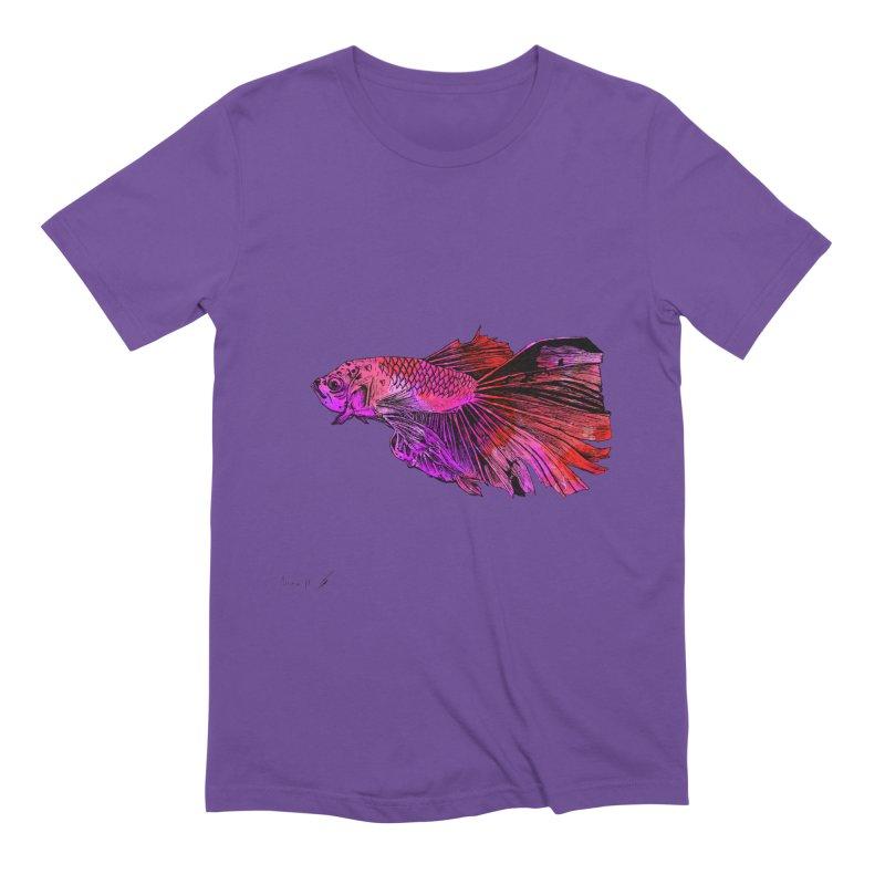 Fish color Men's T-Shirt by danmichaeli's Artist Shop