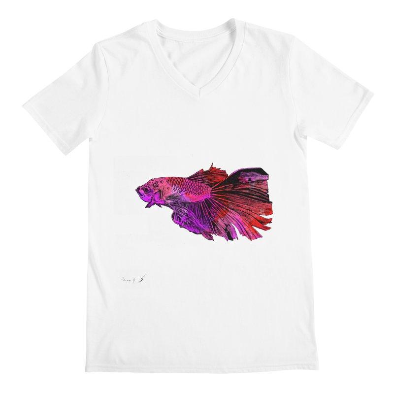 Fish color Men's V-Neck by danmichaeli's Artist Shop