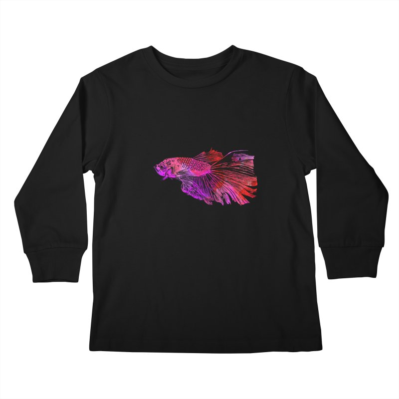 Fish color Kids Longsleeve T-Shirt by danmichaeli's Artist Shop