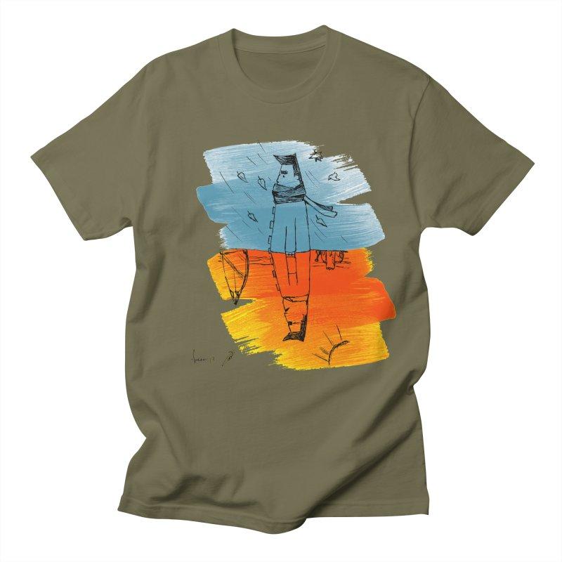 Winter Summer Men's T-Shirt by danmichaeli's Artist Shop
