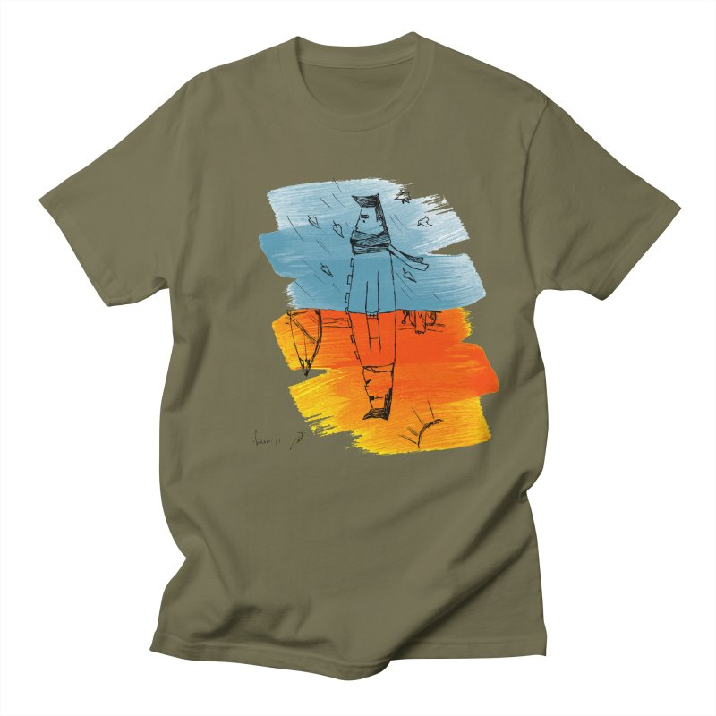 Winter Summer Men's T-Shirt by danmichaeli's Artist Shop