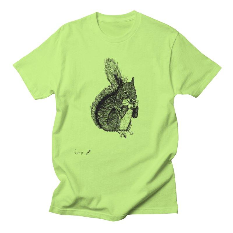 Squirrel Men's T-Shirt by danmichaeli's Artist Shop