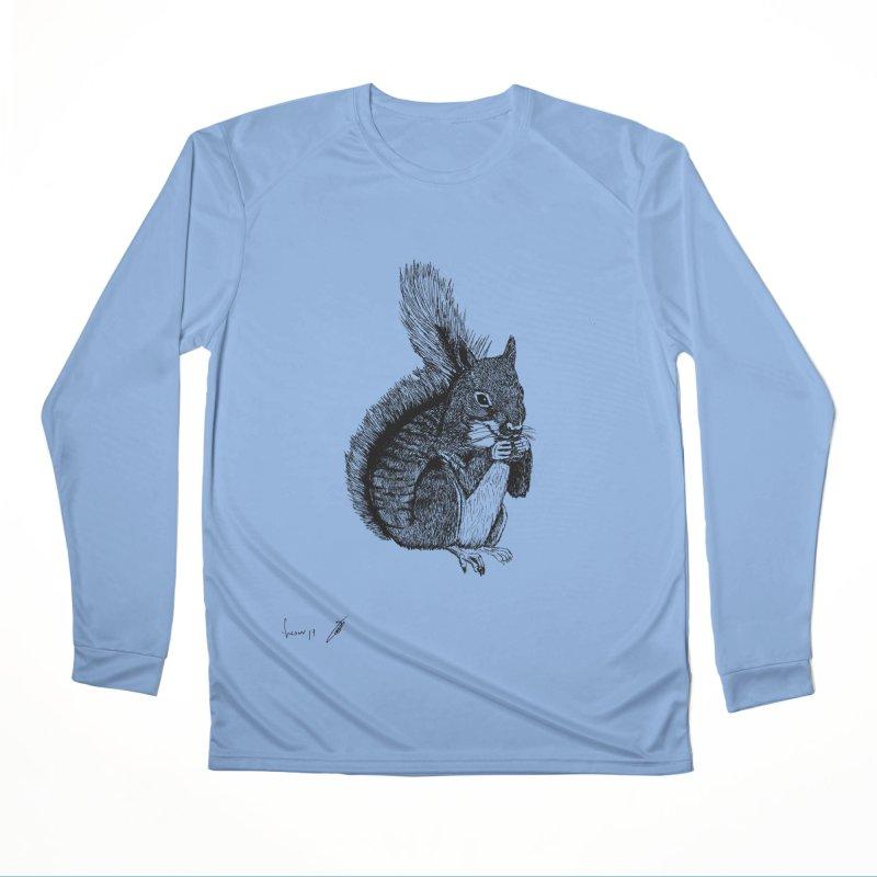 Squirrel Women's Longsleeve T-Shirt by danmichaeli's Artist Shop