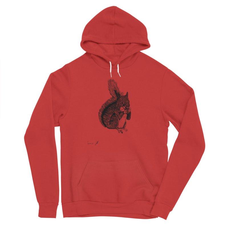 Squirrel Women's Pullover Hoody by danmichaeli's Artist Shop