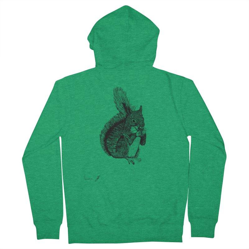 Squirrel Men's Zip-Up Hoody by danmichaeli's Artist Shop