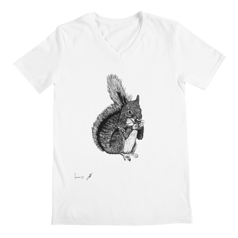 Squirrel Men's V-Neck by danmichaeli's Artist Shop