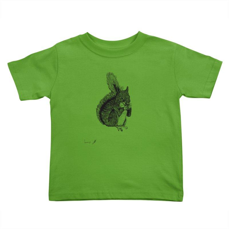 Squirrel Kids Toddler T-Shirt by danmichaeli's Artist Shop