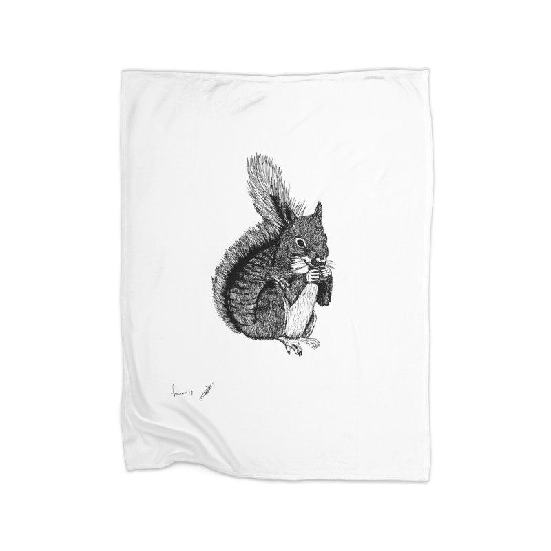 Squirrel Home Blanket by danmichaeli's Artist Shop
