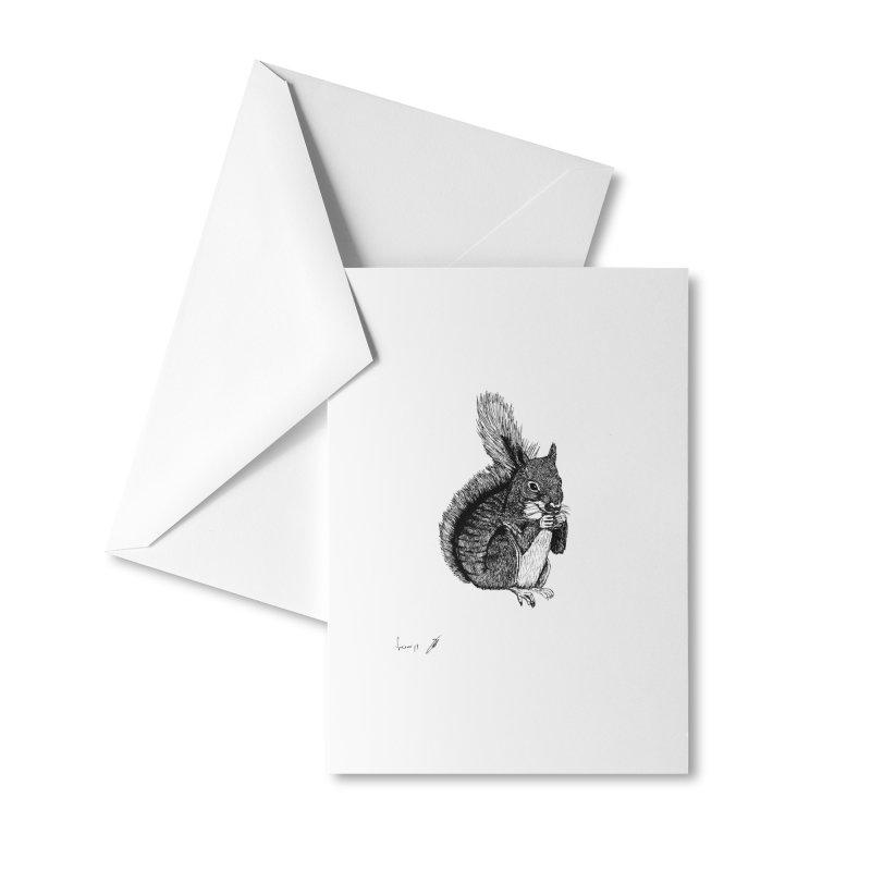 Squirrel Accessories Greeting Card by danmichaeli's Artist Shop