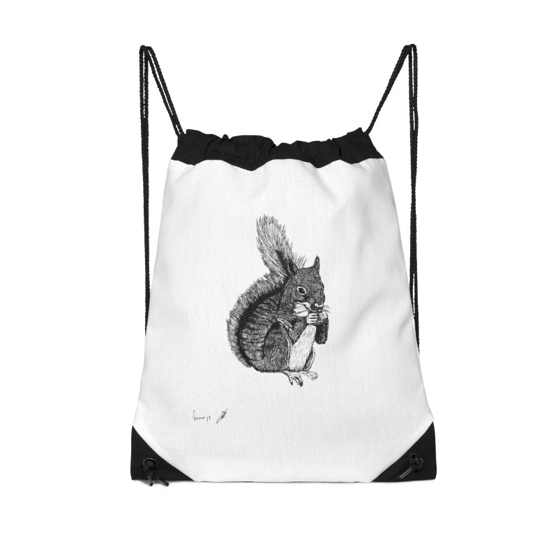Squirrel Accessories Bag by danmichaeli's Artist Shop