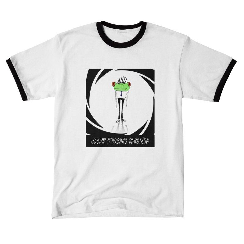 007 Frog Bond Men's T-Shirt by danmichaeli's Artist Shop