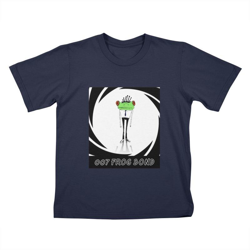 007 Frog Bond Kids T-Shirt by danmichaeli's Artist Shop