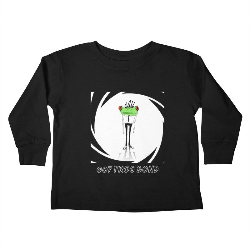 007 Frog Bond Kids Toddler Longsleeve T-Shirt by danmichaeli's Artist Shop