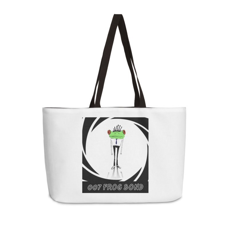 007 Frog Bond Accessories Bag by danmichaeli's Artist Shop