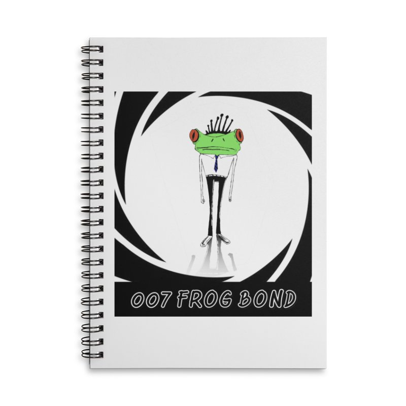 007 Frog Bond Accessories Notebook by danmichaeli's Artist Shop