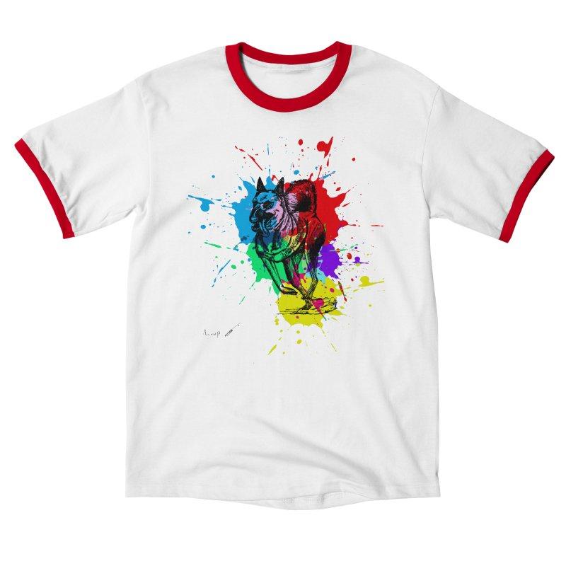 3 leg dog Men's T-Shirt by danmichaeli's Artist Shop