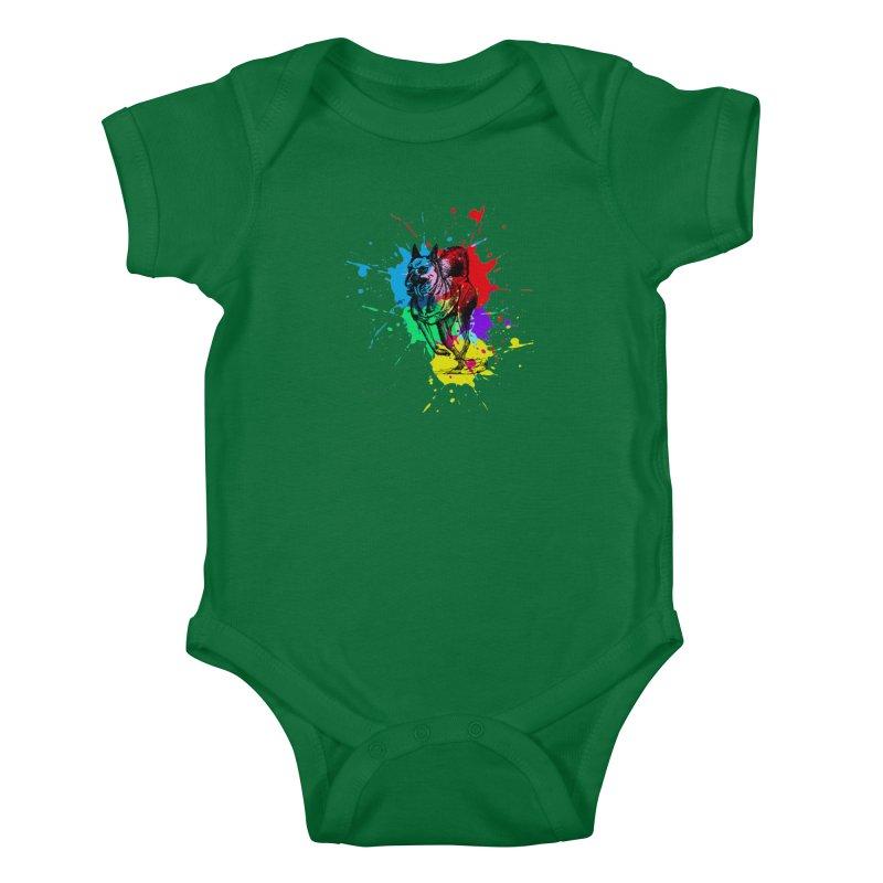 3 leg dog Kids Baby Bodysuit by danmichaeli's Artist Shop